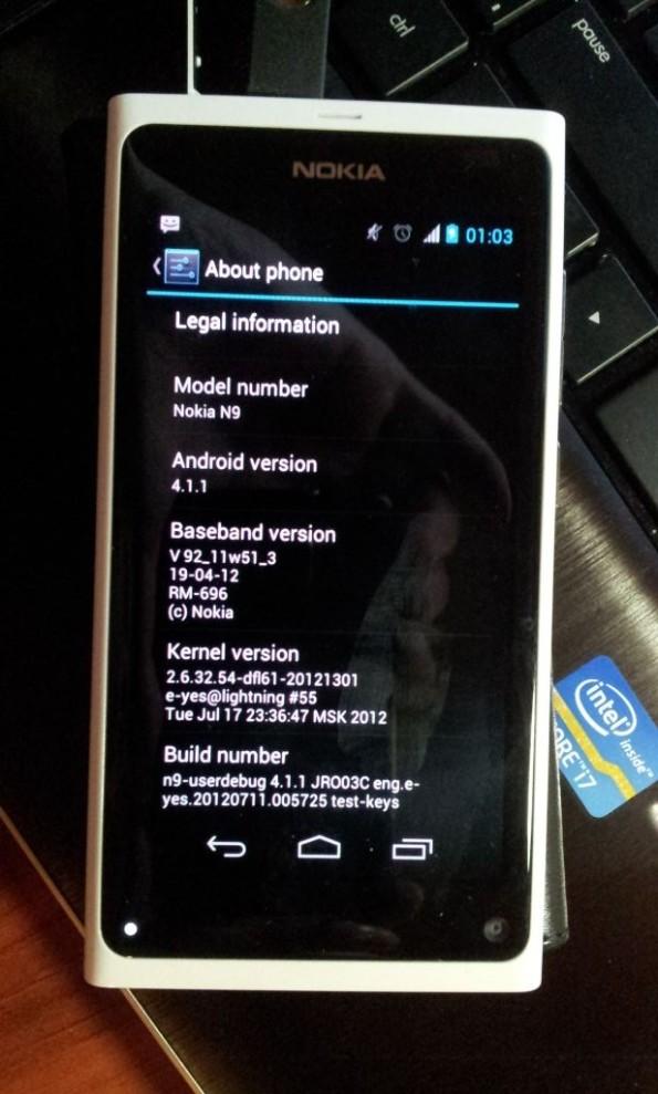 N9 rodando Android 4